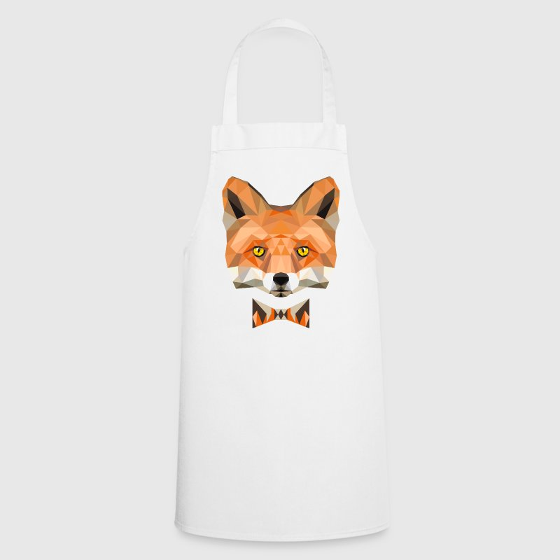 fuchskopf fly fox wild animal forest low poly - Cooking Apron