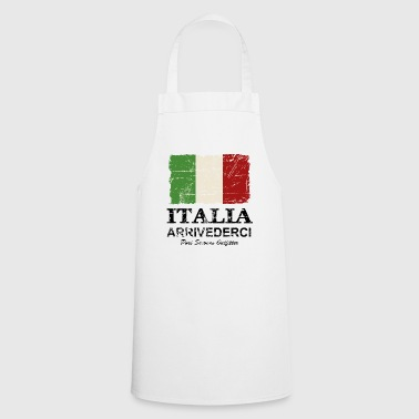 Italy Flag - Vintage Look - Tablier de cuisine