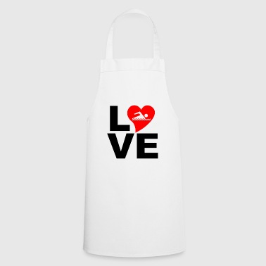 Love swimming / love swimming - Cooking Apron