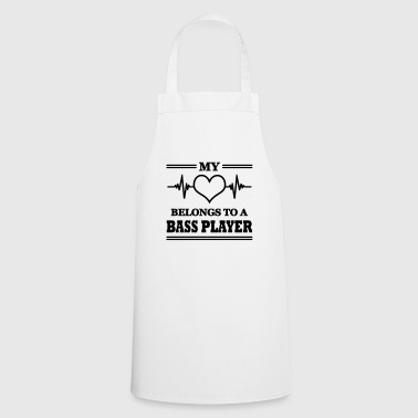 My heart belongs to a bass player - Cooking Apron