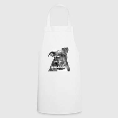 American Staffordshire, dog face, dog head, - Cooking Apron