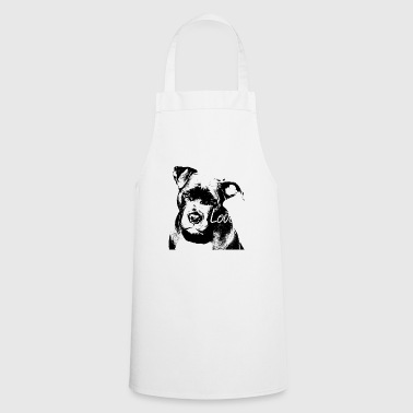 Staffordshire, dog face, dog head, dogs, dogs - Cooking Apron