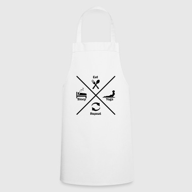 Yoga sport and recreation for the woman gift idea - Cooking Apron