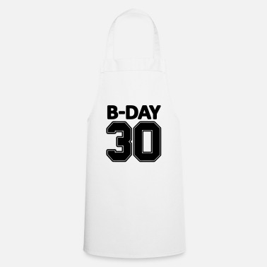 Jersey Number 30th birthday number numbers jersey number - Cooking Apron