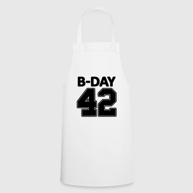 Number 42 / 42nd birthday number jersey number - Cooking Apron