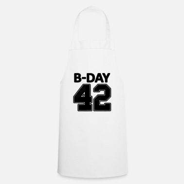 Jersey Number Number 42 / 42nd birthday number jersey number - Cooking Apron