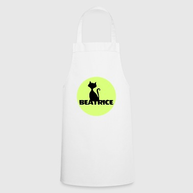 Beatrice First name, name tag, birthday cat - Cooking Apron