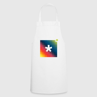 asterisk pixel t-shirt - Cooking Apron