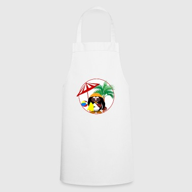 Penguin Surfer bird color vacation summer sun - Cooking Apron