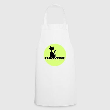 Christine Name First name - Cooking Apron