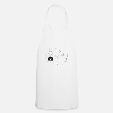 Funny Man Funny man with hat screams - Cooking Apron