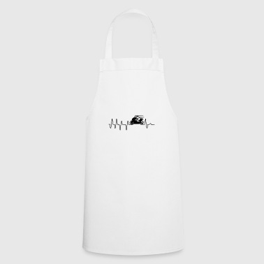 Racing Motorcycle Heartbeat Gift - Cooking Apron