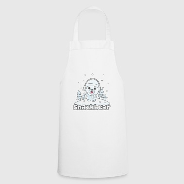 Snack bear / snack bear in the snow - Cooking Apron