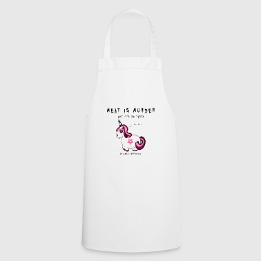 Meat is Murder - Unicorn Fun Shirt - Cooking Apron