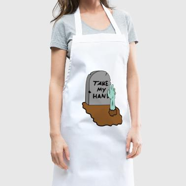Grave stone zombie hand grab gift idea - Cooking Apron