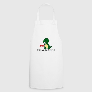 Dino Unstoppable Gift Enforce Motivation - Cooking Apron