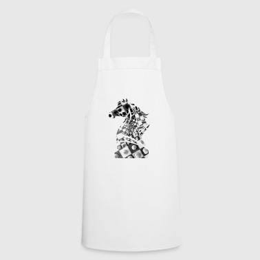 Chess, checkmate checkerboard horse gift idea - Cooking Apron