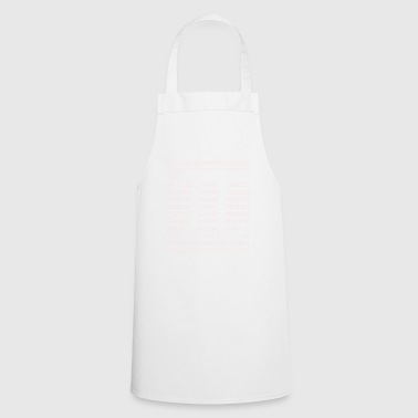 Pi matrix - Cooking Apron