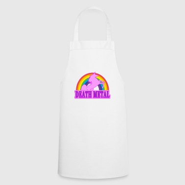 Unicorn Death Metal Rainbow Gift - Cooking Apron