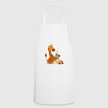 Giraffa con Coffee Gift Cartoon Kawaii - Grembiule da cucina