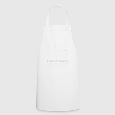 Today Words Heal I healing words - Cooking Apron