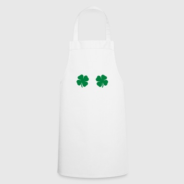 Funny shamrocks breasts fun man woman gift - Cooking Apron