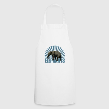 Elephant - mammal - Cooking Apron