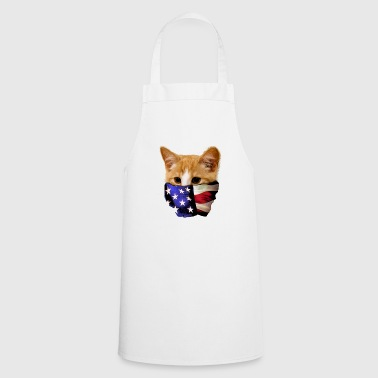 Cat with stars and stripes America United States - Cooking Apron