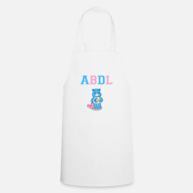 Abdl Tabliers - ABDL DDLG Fry Little Ageplay Adulte Bébé - Tablier blanc