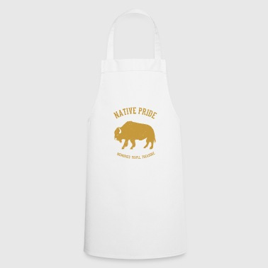 Native Americans Native American bison - Cooking Apron
