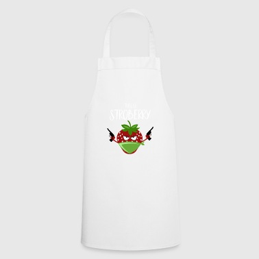 Strawberry Funny Pun This is Stroberry - Cooking Apron