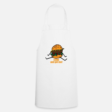 Funny Man Burger man funny saying - Cooking Apron