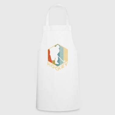 Distressed Retro Ice Hockey Player - Sport Gift - Cooking Apron