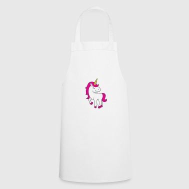 Unicorn cute horse animal soft toy pink glitter - Cooking Apron