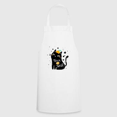 Trick or Treat - trick or treat cat - Cooking Apron