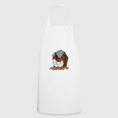 Chicken chickens farmer's wife farmer gift chicken coop - Cooking Apron