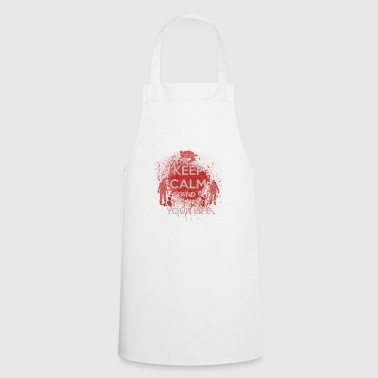 Keep Calm racing for your life gift Halloween - Cooking Apron