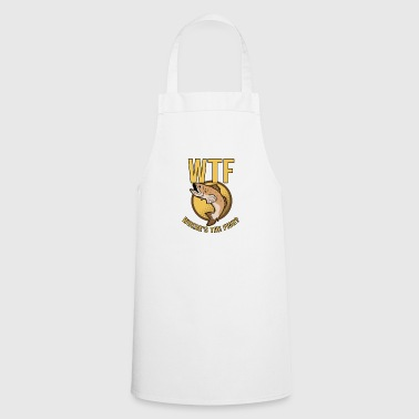 Angler Where is the fish gift Angel - Cooking Apron