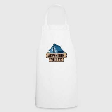 Tent Blue Adventure Camping Outdoor Gift Idea - Cooking Apron