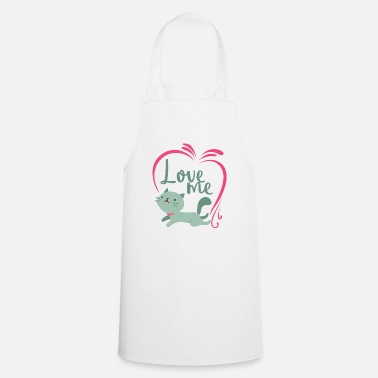 Affection I love affection gift cat affection - Cooking Apron
