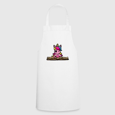 Unicorn Pink Book Reading Bookworm Bookworm - Cooking Apron