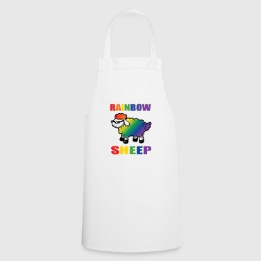 Rainbow Sheep - Gay Pride Rainbow Flag LGBT - Fartuch kuchenny