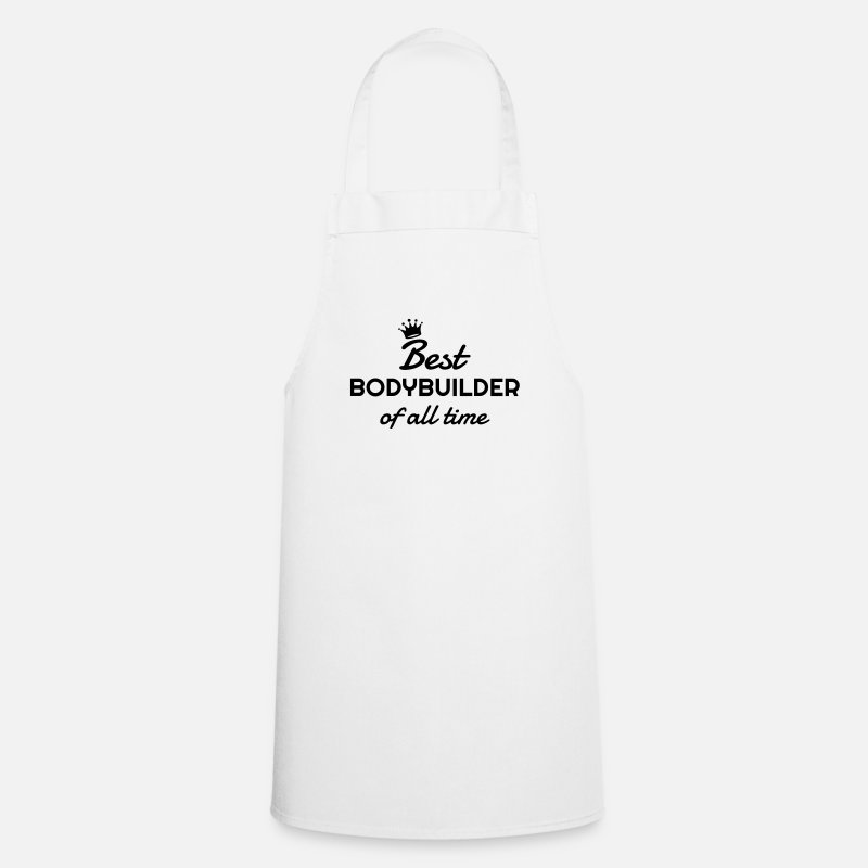 Body Building Aprons - Bodybuilding - Bodybuilder - Sport - Musculation - Apron white