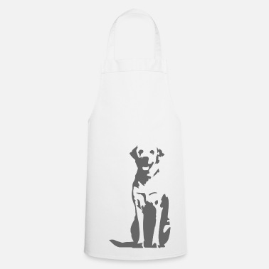 Charcoal Labrador Retriever charcoal - Cooking Apron