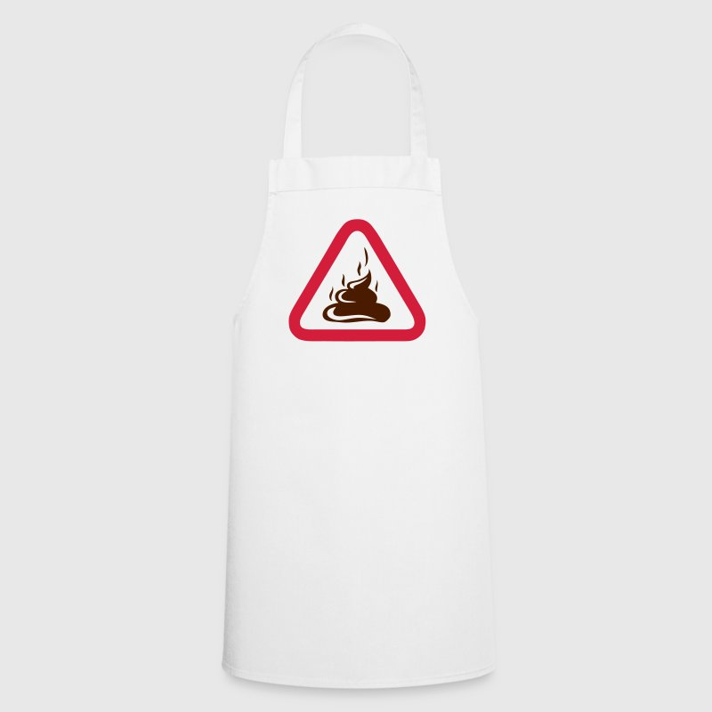 shit sign danger triangle Pooh - Cooking Apron