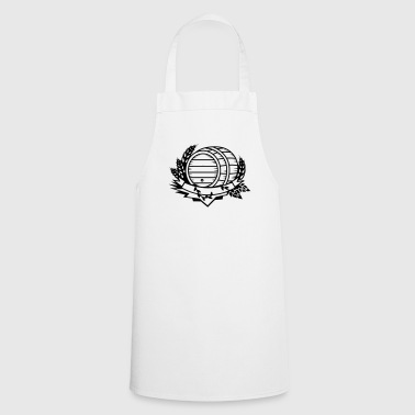beer barrel with hops and ears of wheat - Cooking Apron