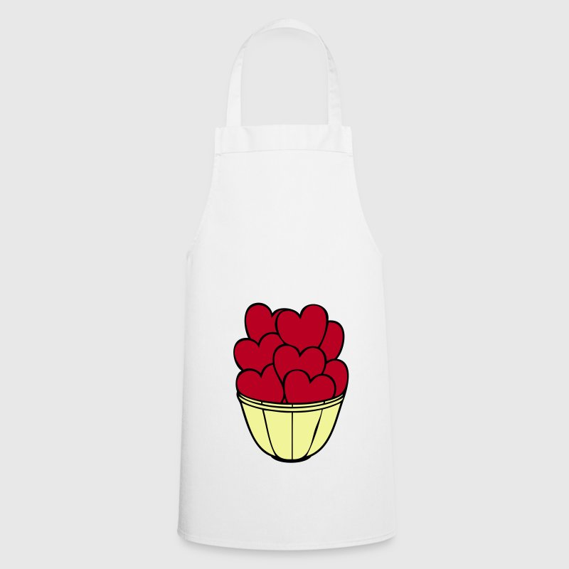 heart, love, Erotk, sex, hearts, red, vase, flat, in love, wedding, marry, to pair, marriage, LOVE, affair, gift, packing, grow, children, child, parents, father, mother, mother day  - Cooking Apron