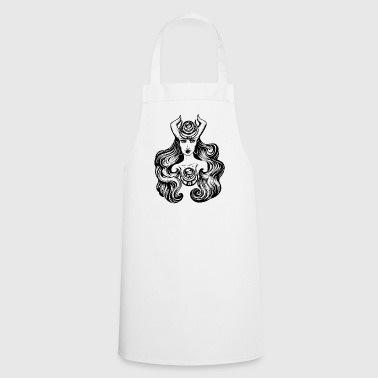 Wicca Horned Woman, Wicca, Witchcraft, Woman Power - Cooking Apron