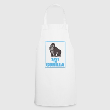 Save the gorillas monkeys - Cooking Apron