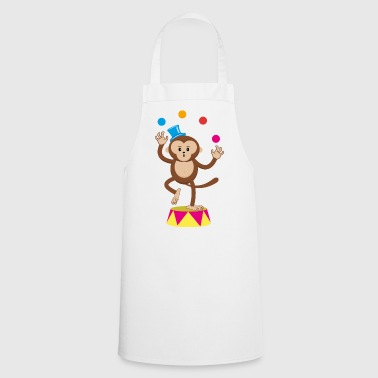 Circus monkey juggler monkey monkey monkey circus - Cooking Apron
